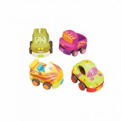 Набор из 4 игрушечных машинок B.Toys (Battat) «Wheeee-ls», фото