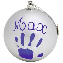 Новогодний шар Baby Art с отпечатком серебрянный, фото