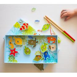 DJECO Магнитная игра Тропическая рыбалка, фото , изображение 2