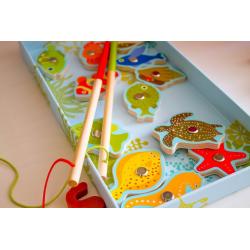 DJECO Магнитная игра Тропическая рыбалка, фото , изображение 4