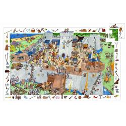 DJECO Пазл и игра на наблюдательность Замок-форт, 100дет 07503, фото