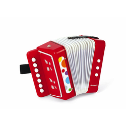 J07620 Аккордеон, красный, фото
