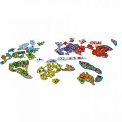 Карта мира с магнитными пазлами Janod, 92 элемента, русский язык, фото , изображение 2