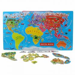 Карта мира с магнитными пазлами Janod, 92 элемента, русский язык, фото , изображение 3