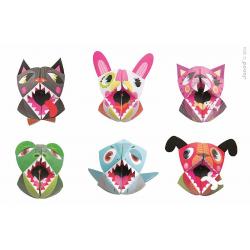 """J07759 Набор для творчества: оригами. """"Животные"""", 6 карточек, фото"""
