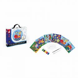 """J07763 Набор для творчества: рисуем водой. """"Подводное царство"""", 6 карточек, фото , изображение 5"""