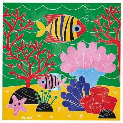 """J07763 Набор для творчества: рисуем водой. """"Подводное царство"""", 6 карточек, фото , изображение 10"""