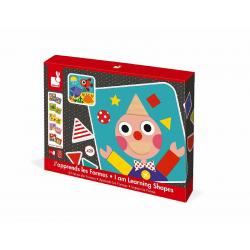 """J08028 Сортер """"Фигуры и цвета""""(6 двухстор. карточек, 29 дерев. фигур), фото , изображение 2"""