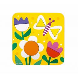 """J08028 Сортер """"Фигуры и цвета""""(6 двухстор. карточек, 29 дерев. фигур), фото , изображение 3"""