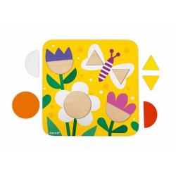 """J08028 Сортер """"Фигуры и цвета""""(6 двухстор. карточек, 29 дерев. фигур), фото , изображение 4"""