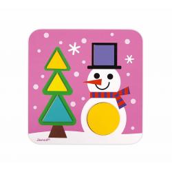 """J08028 Сортер """"Фигуры и цвета""""(6 двухстор. карточек, 29 дерев. фигур), фото , изображение 5"""