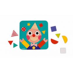"""J08028 Сортер """"Фигуры и цвета""""(6 двухстор. карточек, 29 дерев. фигур), фото , изображение 7"""