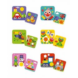 """J08028 Сортер """"Фигуры и цвета""""(6 двухстор. карточек, 29 дерев. фигур), фото , изображение 8"""