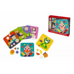 """J08028 Сортер """"Фигуры и цвета""""(6 двухстор. карточек, 29 дерев. фигур), фото , изображение 9"""