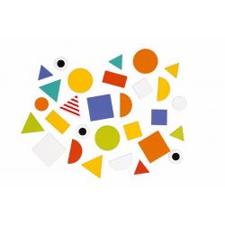 """J08028 Сортер """"Фигуры и цвета""""(6 двухстор. карточек, 29 дерев. фигур), фото , изображение 10"""