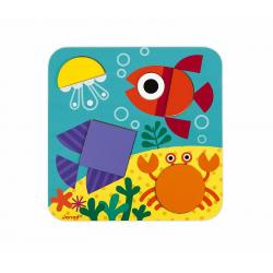 """J08028 Сортер """"Фигуры и цвета""""(6 двухстор. карточек, 29 дерев. фигур), фото , изображение 11"""