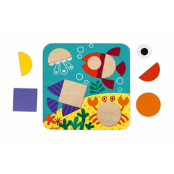 """J08028 Сортер """"Фигуры и цвета""""(6 двухстор. карточек, 29 дерев. фигур), фото , изображение 12"""