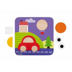 """J08028 Сортер """"Фигуры и цвета""""(6 двухстор. карточек, 29 дерев. фигур), фото , изображение 14"""