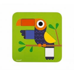 """J08028 Сортер """"Фигуры и цвета""""(6 двухстор. карточек, 29 дерев. фигур), фото , изображение 15"""