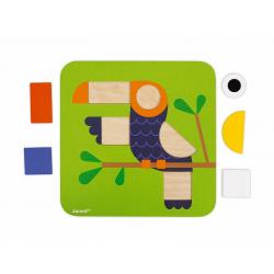 """J08028 Сортер """"Фигуры и цвета""""(6 двухстор. карточек, 29 дерев. фигур), фото , изображение 16"""