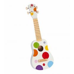 J07597 Гавайская гитара (дерево), белая, фото , изображение 3