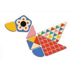 Книга-игра Janod «Мозаика в геометрии» магнитная, фото , изображение 5
