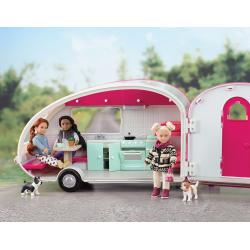 Автофургон жилой для куклы c мебелью и аксессуарами, фото