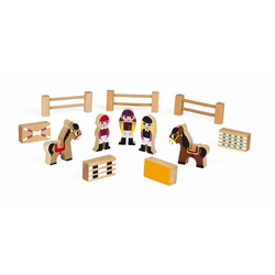 """Набор деревянных фигурок """"Маленькие истории. Школа верховой езды"""", фото"""