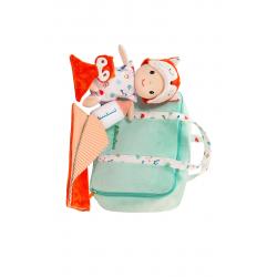 """Кукла мягкая """"Алекс"""" в переноске с игрушкой, фото , изображение 2"""