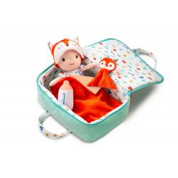 """Кукла мягкая """"Алекс"""" в переноске с игрушкой, фото"""