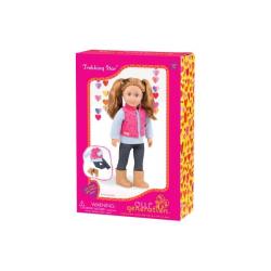 Комплект одежды для куклы с дутой жилеткой и джеггинсами, фото , изображение 2