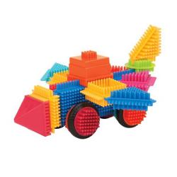 Конструктор игольчатый Bristle Blocks (Battat): 80 деталей в банке, фото