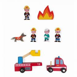 """Набор деревянных фигурок """"Маленькие истории. Пожарные"""", фото , изображение 4"""