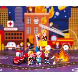 """Набор деревянных фигурок """"Маленькие истории. Пожарные"""", фото , изображение 5"""