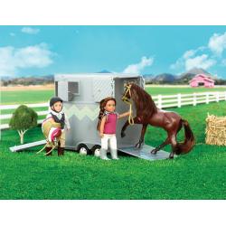 Прицеп для перевозки лошадей с аксессуарами, фото