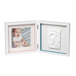 Рамочка двойная Baby Art «Baby Style» белая, фото