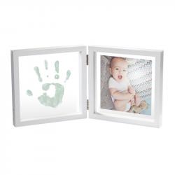 """Рамочка двойная прозрачная """"Baby Style"""" с отпечатком краской; белый, фото , изображение 2"""