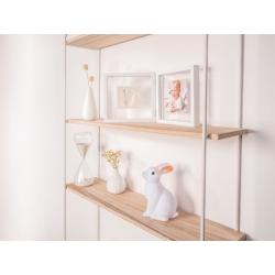 Рамочка двойная прозрачная Baby Art «Baby Style» с отпечатком, белая , фото