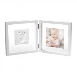Рамочка двойная прозрачная Baby Art «Baby Style» с отпечатком, белая , фото , изображение 3