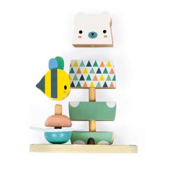 "Пирамидка ""Мишка с пчелкой""; серия Скандинавские мотивы, фото , изображение 4"