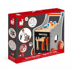 Тележка-каталка Janod «Brico'Kids» с набором магнитных инструментов: 25 аксессуаров , фото , изображение 2