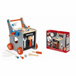 Тележка-каталка Janod «Brico'Kids» с набором магнитных инструментов: 25 аксессуаров , фото , изображение 3