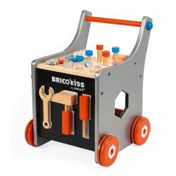 Тележка-каталка Janod «Brico'Kids» с набором магнитных инструментов: 25 аксессуаров , фото , изображение 4