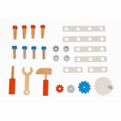 Тележка-каталка Janod «Brico'Kids» с набором магнитных инструментов: 25 аксессуаров , фото , изображение 5