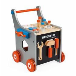 Тележка-каталка Janod «Brico'Kids» с набором магнитных инструментов: 25 аксессуаров , фото , изображение 6