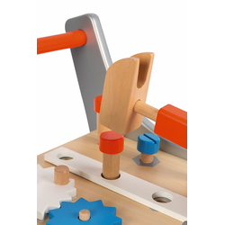 Тележка-каталка Janod «Brico'Kids» с набором магнитных инструментов: 25 аксессуаров , фото , изображение 7