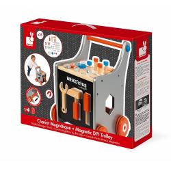 Тележка-каталка Janod «Brico'Kids» с набором магнитных инструментов: 25 аксессуаров , фото , изображение 10