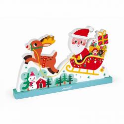 """Пазл магнитный вертикальный """"Летящий Санта Клаус"""", фото"""