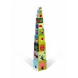 """Пирамидка """"Времена года"""" квадратная: 10 элементов, фото , изображение 4"""