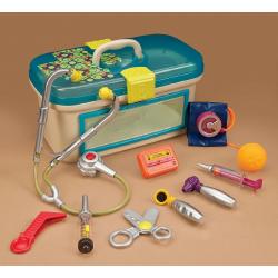 Набор игровой медицинский B.Toys (Battat) с голубой крышкой, фото